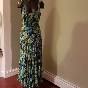 Kasper Colorful Long Dress with a Flare